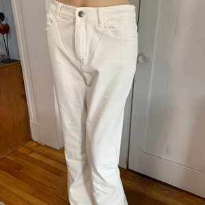 """Soft Surroundings Jeans - Soft Surroundings """"Daria Flare Jeans"""" White NWT 10"""